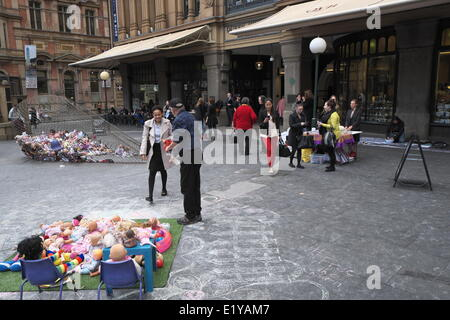 Sydney, Australia. 11th June 2014. Free the Children campaign protests against Australian government detaining children - Stock Photo