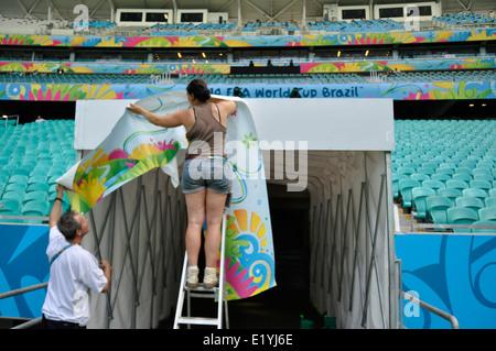 Arena Fonte Nova, Vorbereitungen für die WM 2014, Salvador da Bahia, Brazil. - Stock Photo