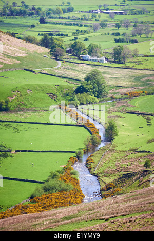 A river running through Mosedale Valley in the English Lake District, UK. - Stock Photo