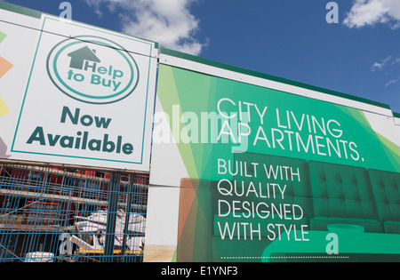 Help to Buy _UK government help to buy scheme during economic recession, Islington, Manchester, UK - Stock Photo