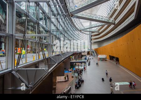 Interior of Tokyo International Forum building, Tokyo, Japan