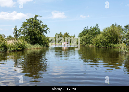 A beautiful sunny early summers day on the 'Norfolk Broads' 'East Anglia' UK - Stock Photo