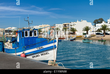 Portugal, the Eastern Algarve, Santa Luzia fishing boats - Stock Photo