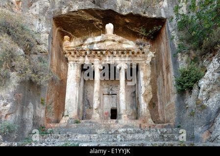 Tomb of Amyntas, Fethiye, Mugla Province, Turkey Stock ...