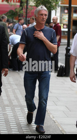 London, UK, 11th June 2014. Paul Weller seen leaving the BBC radio two studio in London, UK - Stock Photo