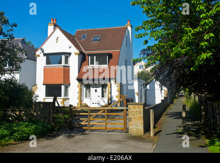 Detached house in Adel, near Leeds, West Yorkshire, England UK - Stock Photo