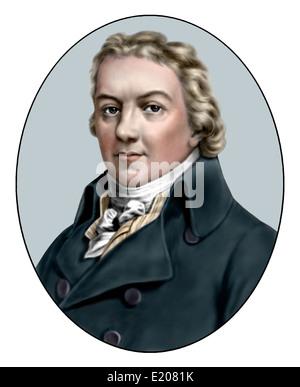 Edward Jenner; 1749 1823; English Physician; Illustration - Stock Photo