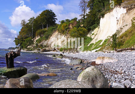 chalk coast Rügen Germany - Stock Photo