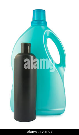 Two plastic bottles - Stock Photo