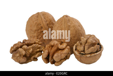 walnuts, whole and unshelled - Stock Photo