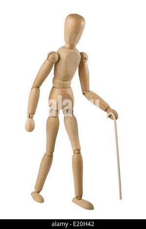 wooden toy man - Stock Photo