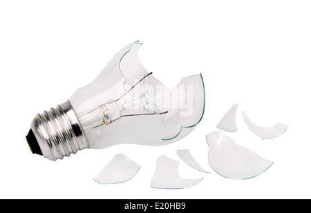 broken household light bulb - Stock Photo