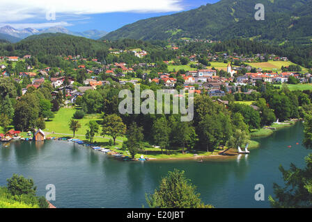 Seeboden in Carinthia at lake Millstätt - Stock Photo