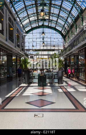 Wayfarers Shopping Arcade in Southport Merseyside - Stock Photo