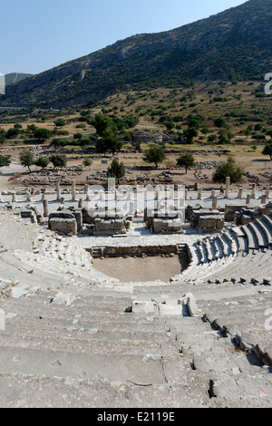The Odeon or Bouleuterion which dates from the 2nd century AD. Turkey. Ephesus. - Stock Photo