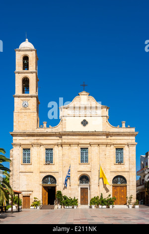 Orthodox Cathedral in Chania. Crete, Greece - Stock Photo