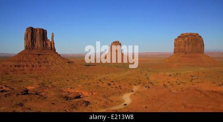 Landscape of mesas in Canyonlands National Park, Moab, Utah, United States. - Stock Photo