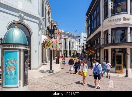 Shops at Two Rodeo Drive, Beverly Hills, Los Angeles, California, USA - Stock Photo