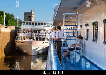 Russia, Cruise on Volga River - Stock Photo