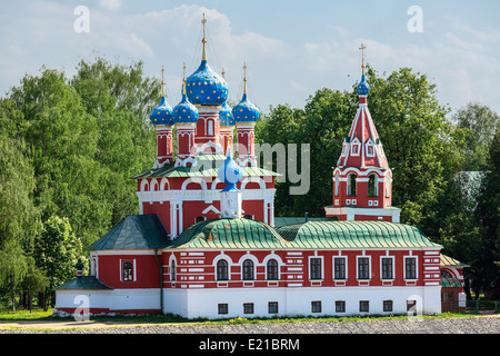 Russia, Uglich, Church of Demetrius on the Blood - Stock Photo