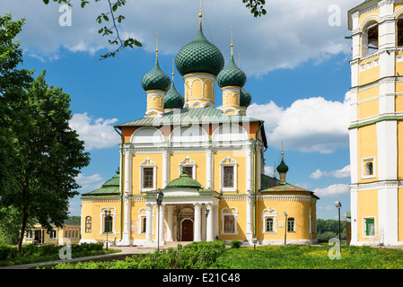 Russia, Uglich, Cathedral of Transfiguration - Stock Photo