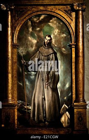 Saint Bernardino 1603 El Greco  Dominikos Theotokopoulos (Crete 1541 Toledo 1614) Greek Spanish - Stock Photo