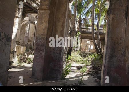 House ruin in Diego Suarez, Madagascar - Stock Photo