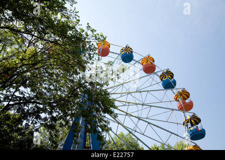 Popular attraction in park - a Ferris wheel - Stock Photo