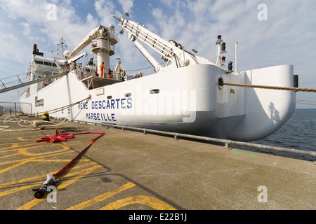 Rene Descartes service ship - Stock Photo