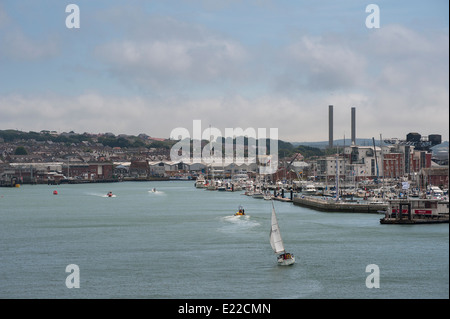 Beautiful view of Cowes on the Isle of Wight, England - Stock Photo