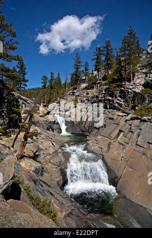 CA02204-00...CALIFORNIA - The Merced River above Upper Yosemite Fall in Yosemite National Park. - Stock Photo