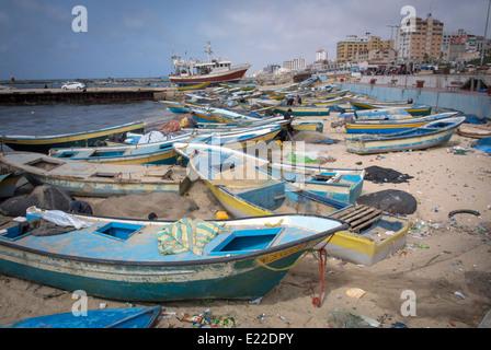 The Port in Gaza City, Gaza Strip, Palestine. - Stock Photo