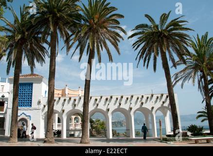 Nerja ( Balcon de Europa )  Beach Town Sea Spain ( Malaga ) Mediterranean - Stock Photo