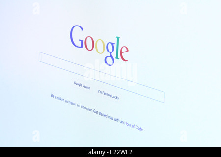 Photo of Google website on a monitor screen. - Stock Photo