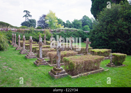 Family graves at Brympton d'Evercy House nr Yeovil, Somerset, England, UK - Stock Photo