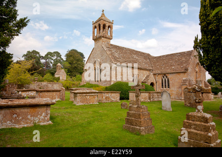 The chapel and graveyard at Brympton d'Evercy House nr Yeovil, Somerset, England, UK - Stock Photo