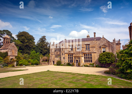 The west front at Brympton d'Evercy House nr Yeovil, Somerset, England, UK - Stock Photo