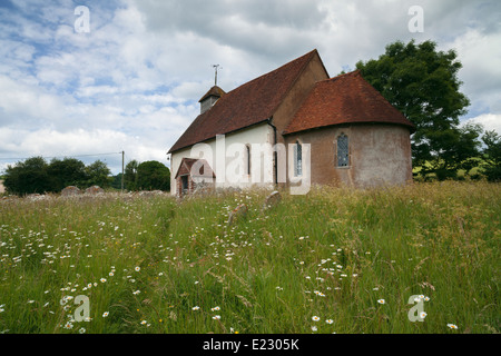 The 12th century Church of St Mary the Virgin in Upwaltham, West Sussex, England, UK - Stock Photo