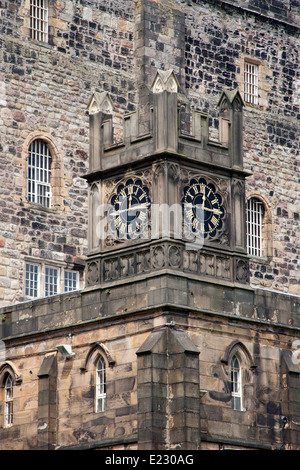 Clock tower of Her Majesty's Prison Lancaster Castle, Castle Park Lancashire England UK