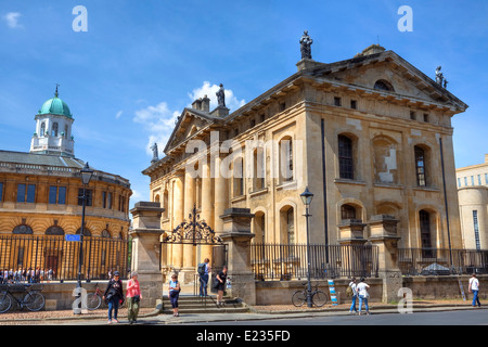 Bodleian library, Oxford, Oxfordshire, England, United Kingdom - Stock Photo