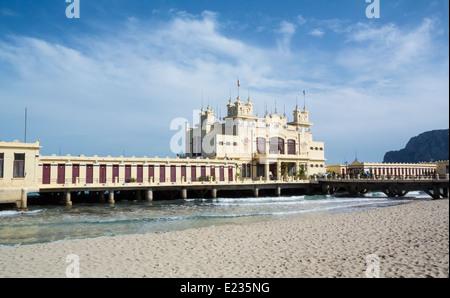 Mondello Sicily Italy - Stock Photo