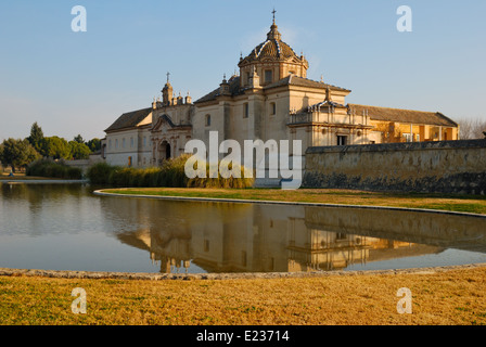 La Cartuja, an old monastery located Seville, Spain. In 1997, it became the site of a museum of contemporary and - Stock Photo