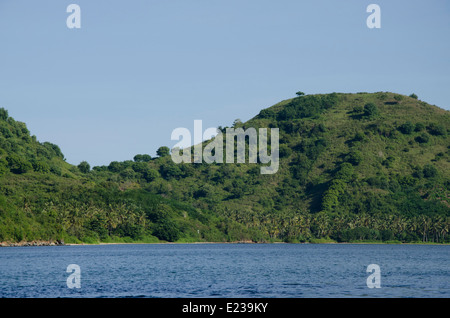 Indonesia, Island of Lombok, Lembar. Lush countryside views from the port area around Lembar. - Stock Photo