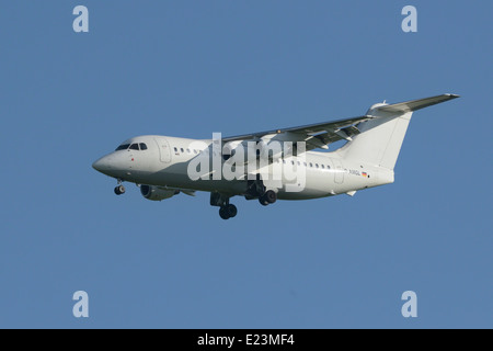 WDL Aviation BAe 146-200 on final approach - Stock Photo