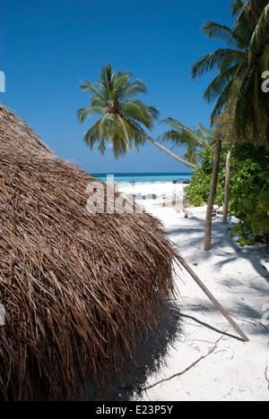 Beach hut in a tropical island - Stock Photo