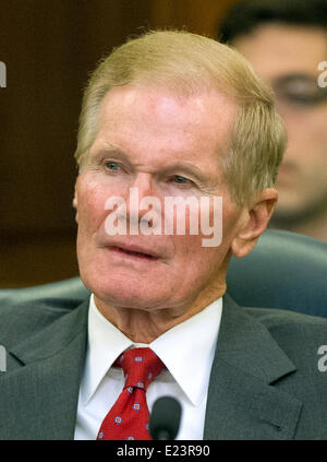 United States Senator Bill Nelson (Democrat of Florida) listens to testimony before the U.S. Senate Committee on Commerce, Science, and Transportation on several nominations on Capitol Hill in Washington, DC on Wednesday, June 11, 2014. Credit: Ron Sachs/ CNP - NO WIRE SERVICE