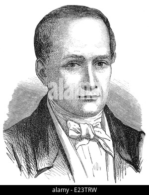 Nicéphore or Joseph Niépce, 1765 - 1833, French inventor of heliography - Stock Photo