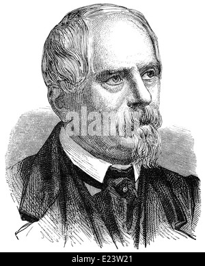 Claude Félix Abel Niépce de Saint-Victor, 1805 - 1870, a French photographic inventor, - Stock Photo