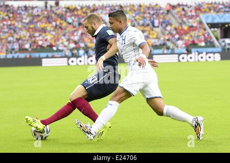Porto Alegre, Brazil. 15th June, 2014. Karim Benzema (Fra) FOOTBALL : FIFA World Cup finals. France versus Honduras. - Stock Photo