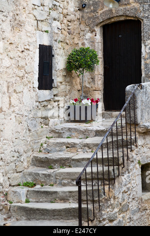 Door in the medieval Village Lacoste, Provence, France - Stock Photo